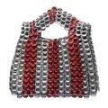Alice Lux gris rayas rojas