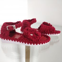 Sandalia tejida Roja